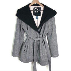 Sebby oversized sweatshirt jacket hood coat gray